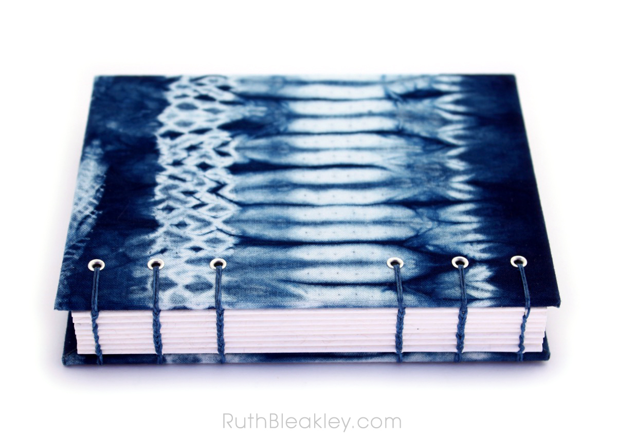 Indigo Shibori Tie Dye Journal - sampler - Ruth Bleakley - 2