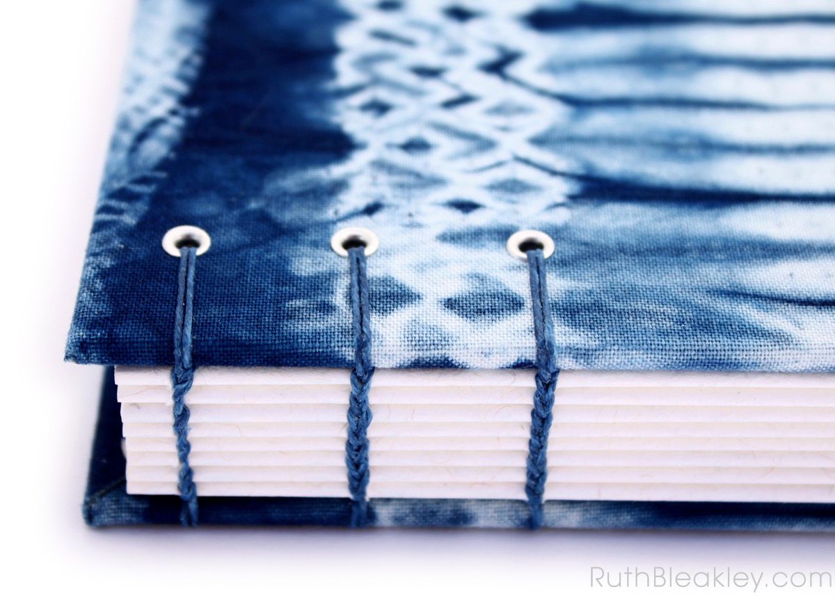 Indigo Shibori Tie Dye Journal - sampler - Ruth Bleakley - 3