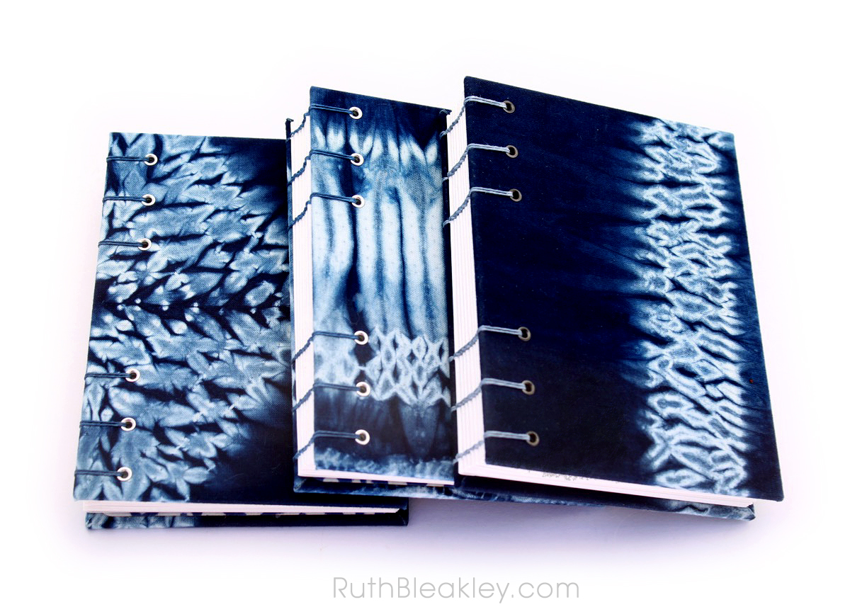 Indigo Shibori Tie Dye Journals - dyed and handbound by Ruth Bleakley - 1