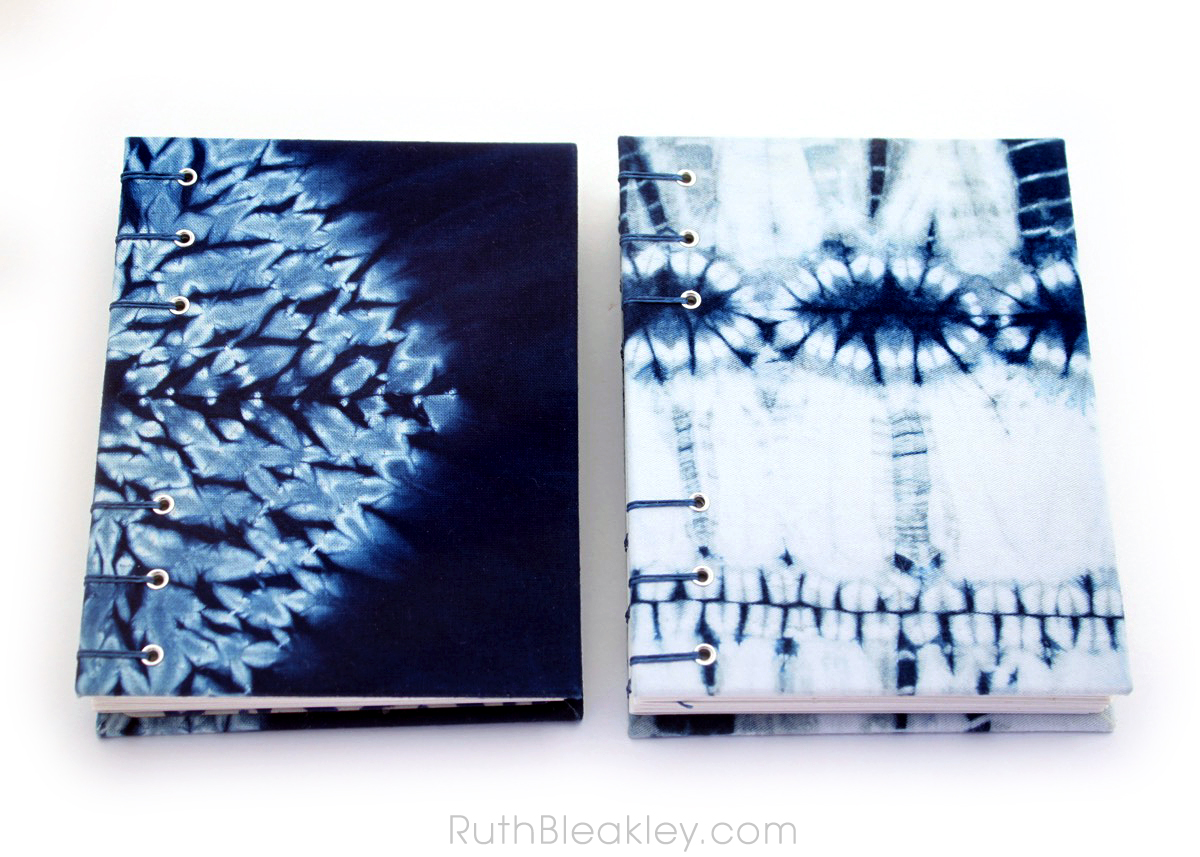 Indigo Shibori Tie Dye Journals - dyed and handbound by Ruth Bleakley - 10