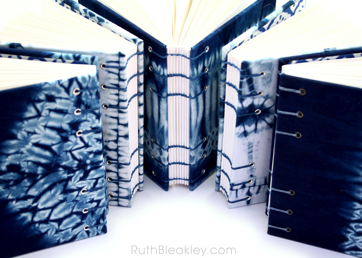 Indigo Shibori Tie Dye Journals - dyed and handbound by Ruth Bleakley - 5