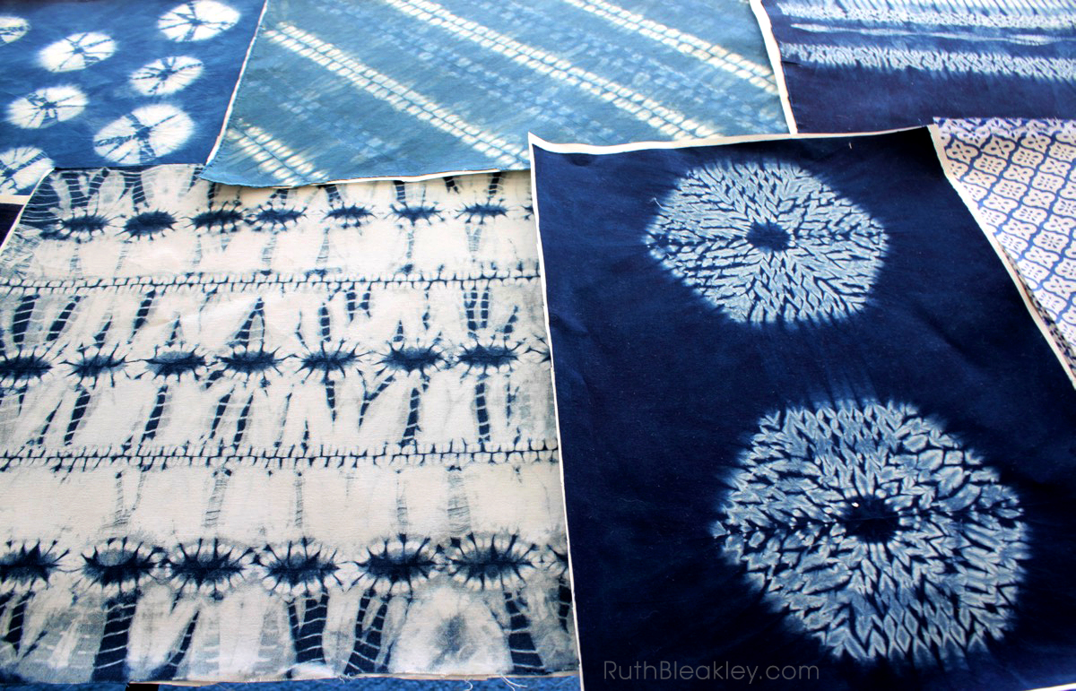 Making Bookcloth from Indigo Shibori Tie Dye - Ruth Bleakley - 3