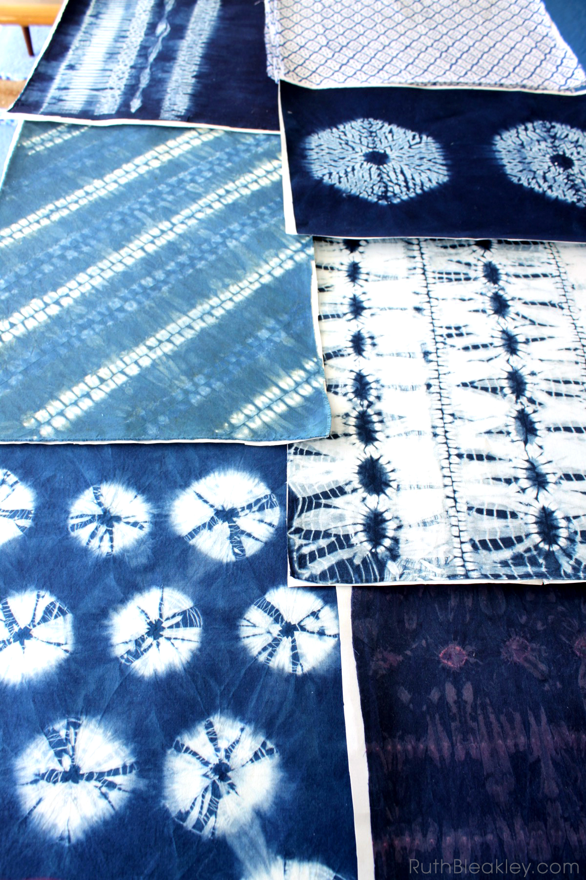Making Bookcloth from Indigo Shibori Tie Dye - Ruth Bleakley - 4