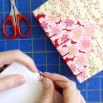 Cherry Blossom Twin Journal handmade by bookbinder Ruth Bleakley from Chiyogami