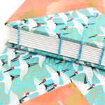 Blue Cranes and Peach Cloud Twin Journals by Ruth Bleakley that lay flat when open - 8