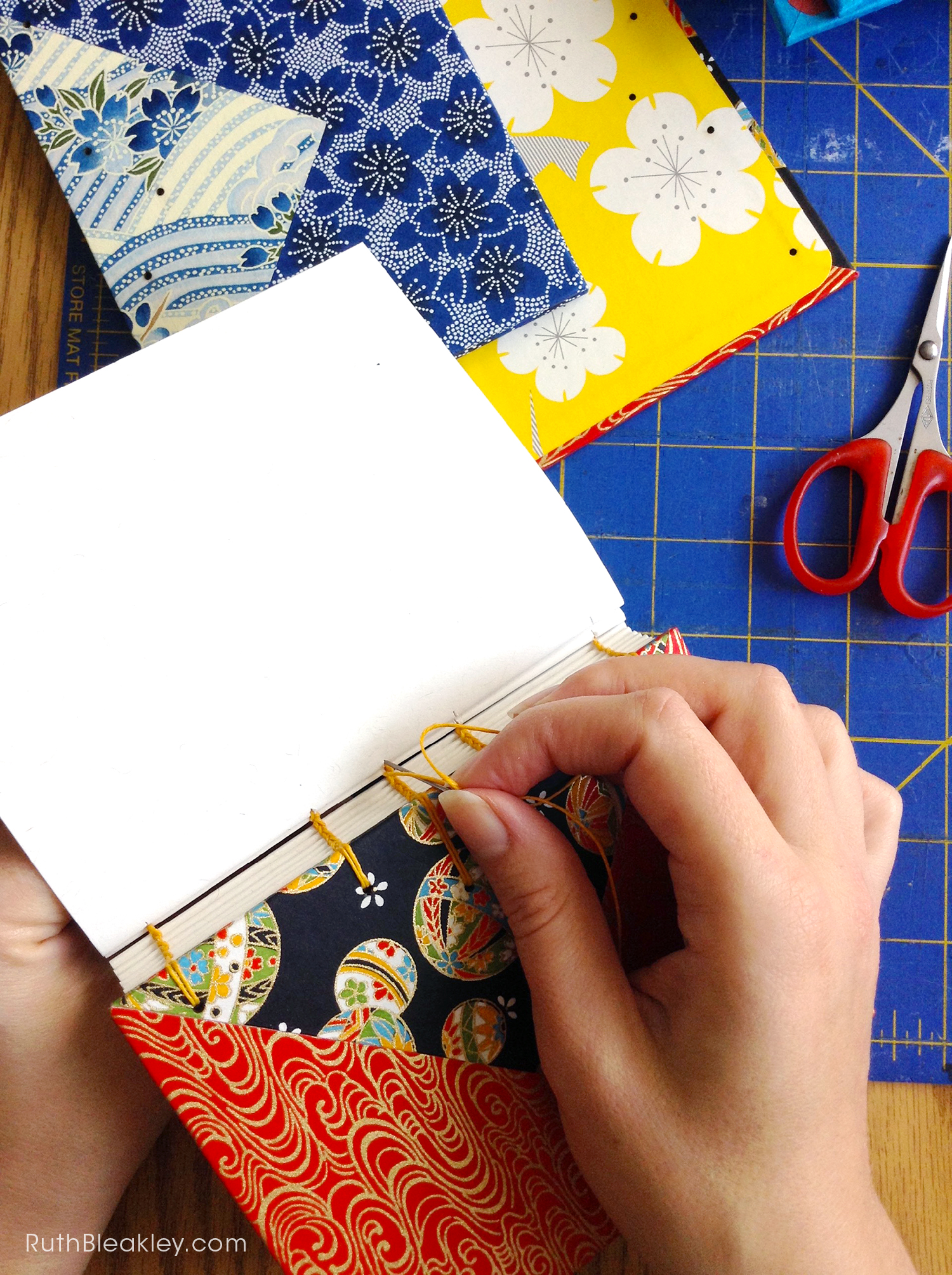 Temari Ball Journal handmade by Ruth Bleakley Coptic Journals 1