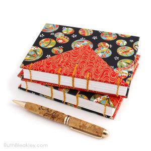 Temari Ball Journal handmade by Ruth Bleakley Coptic Journals 10
