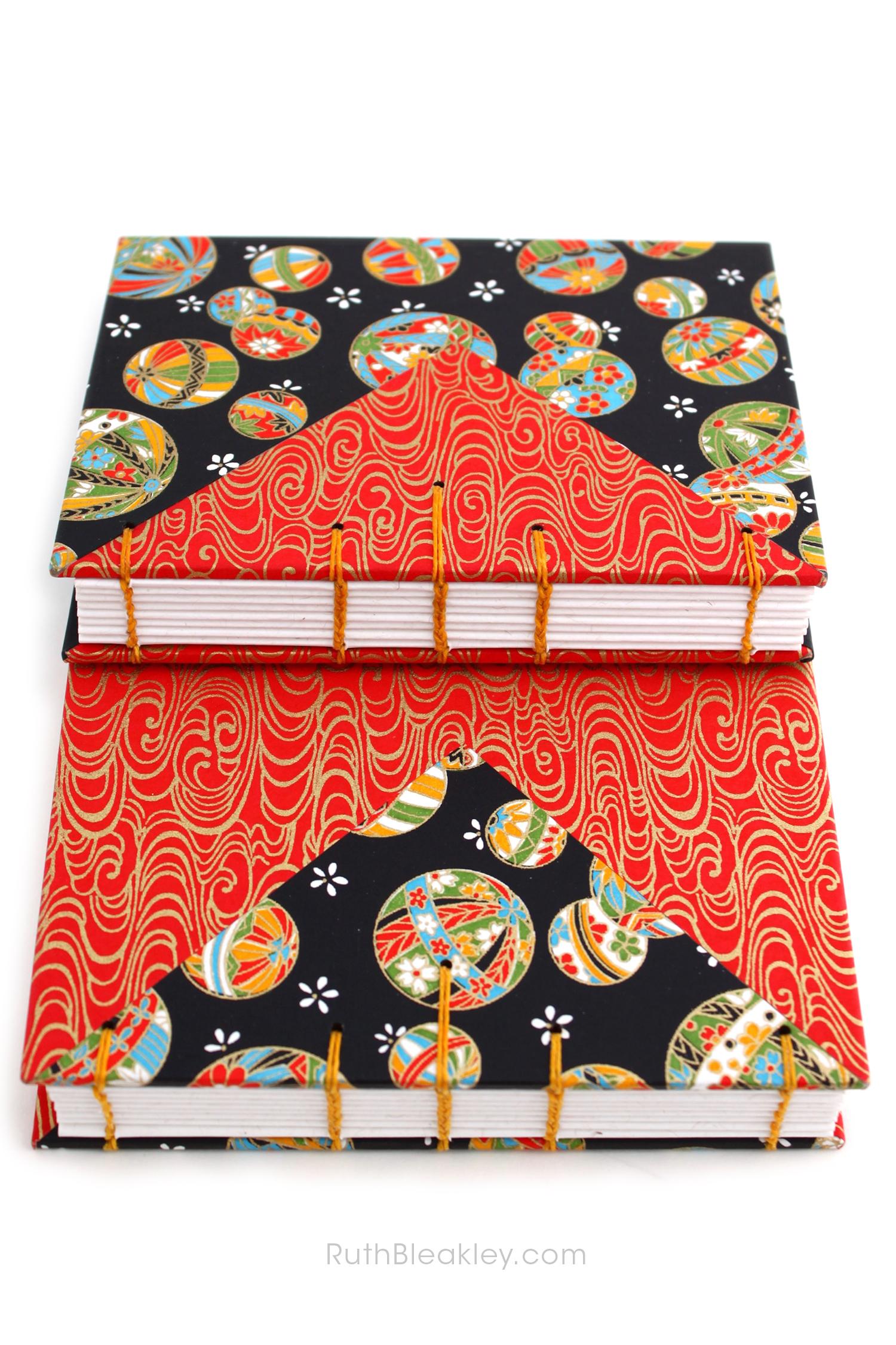 Temari Ball Journal handmade by Ruth Bleakley Coptic Journals 11