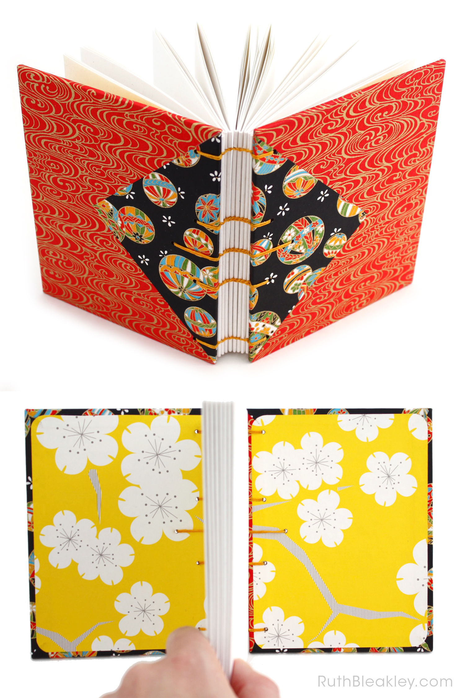 Temari Ball Journal handmade by Ruth Bleakley Coptic Journals 15
