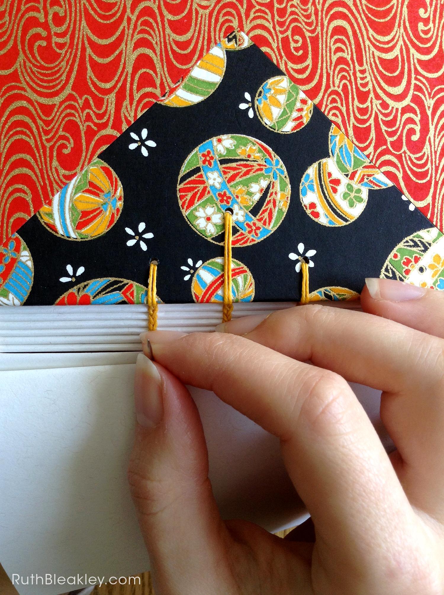 Temari Ball Journal handmade by Ruth Bleakley Coptic Journals 2