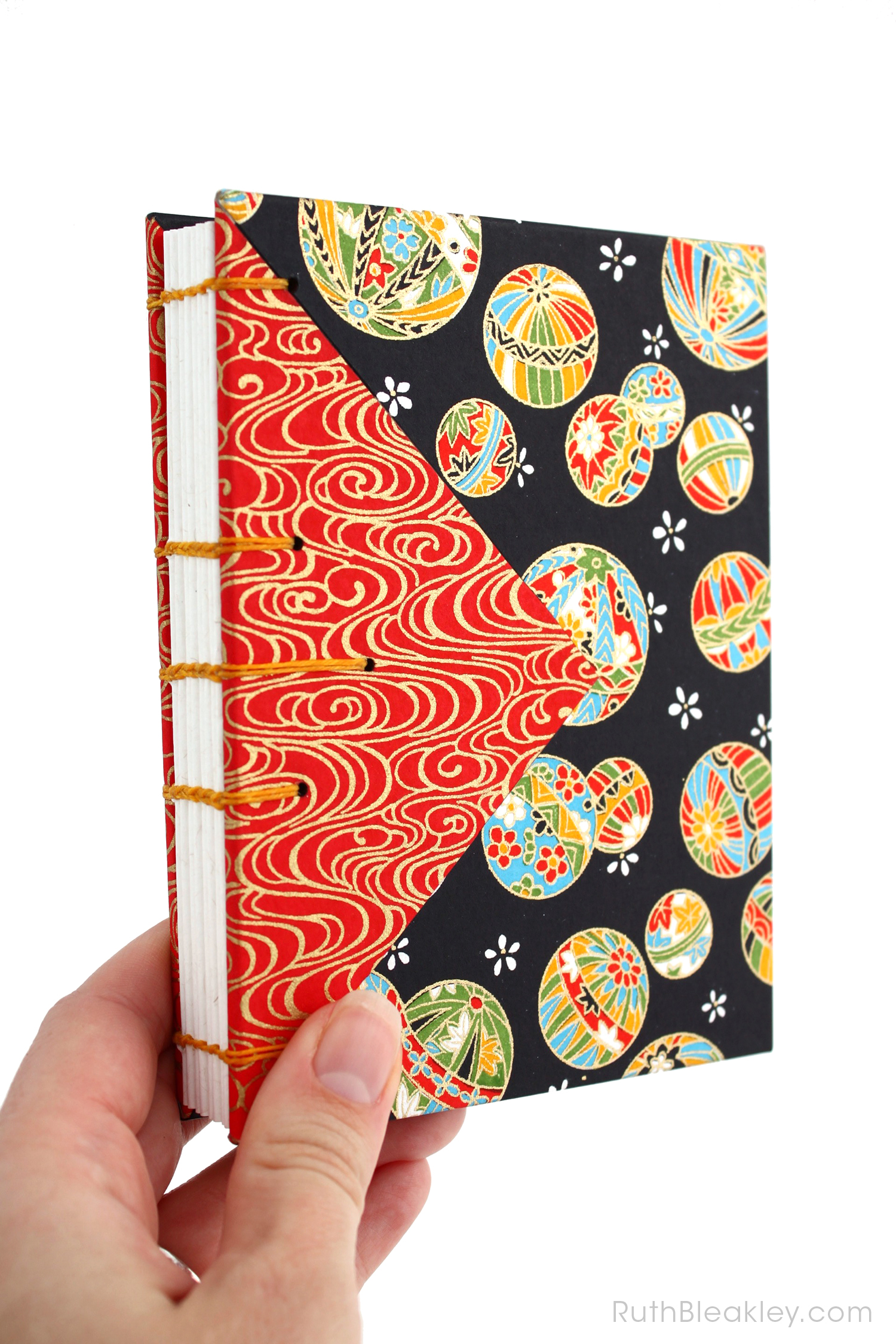 Temari Ball Journal handmade by Ruth Bleakley Coptic Journals 3