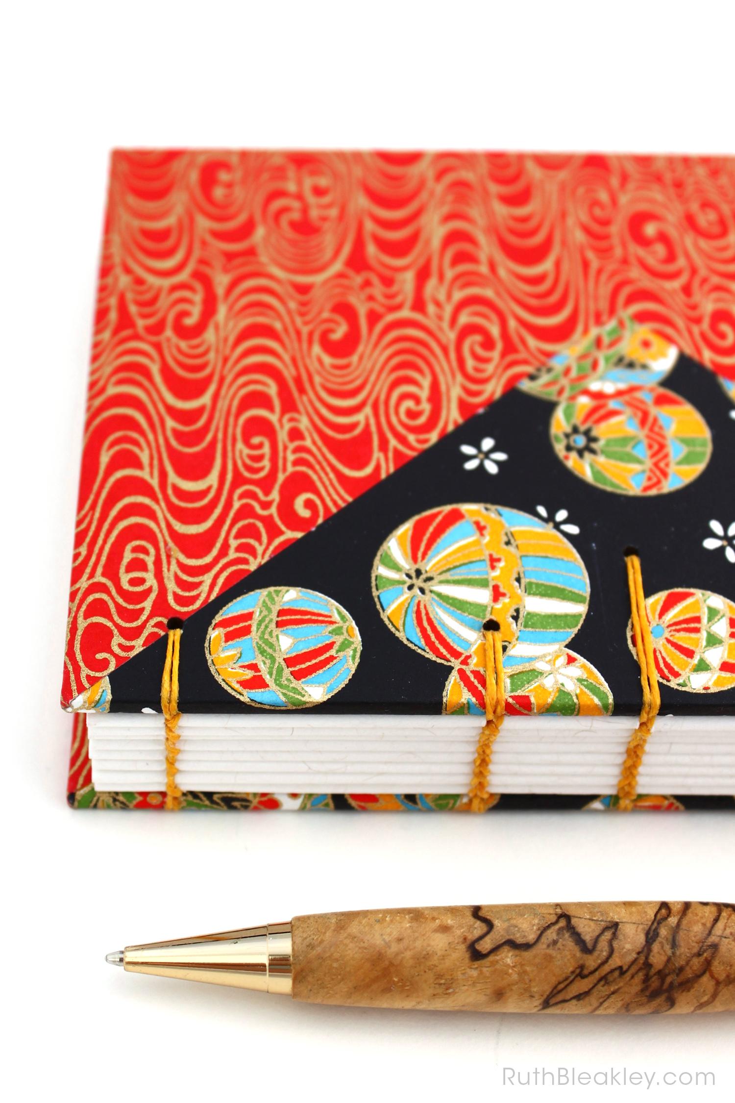 Temari Ball Journal handmade by Ruth Bleakley Coptic Journals 8