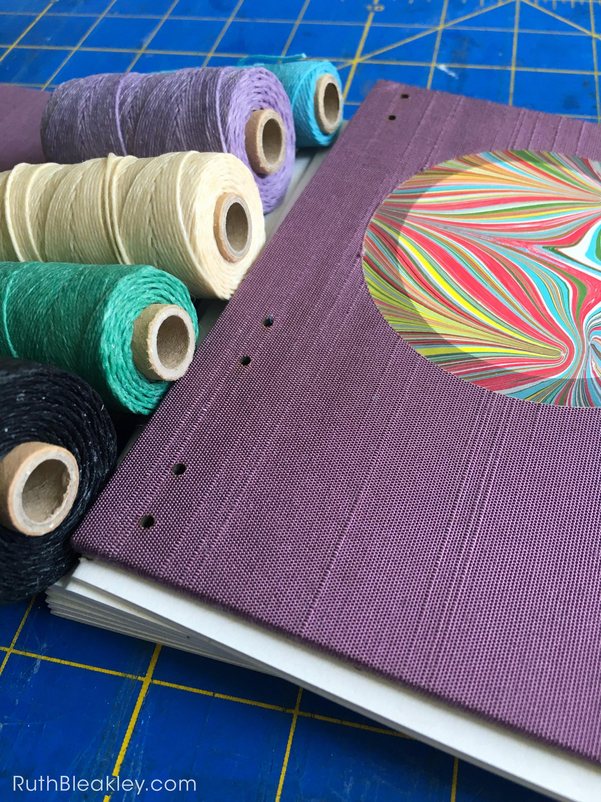 choosing thread bookbinding process by Ruth Bleakley