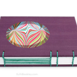 Purple Marble Circle Journal - handmade journal shop - Ruth Bleakley - 2